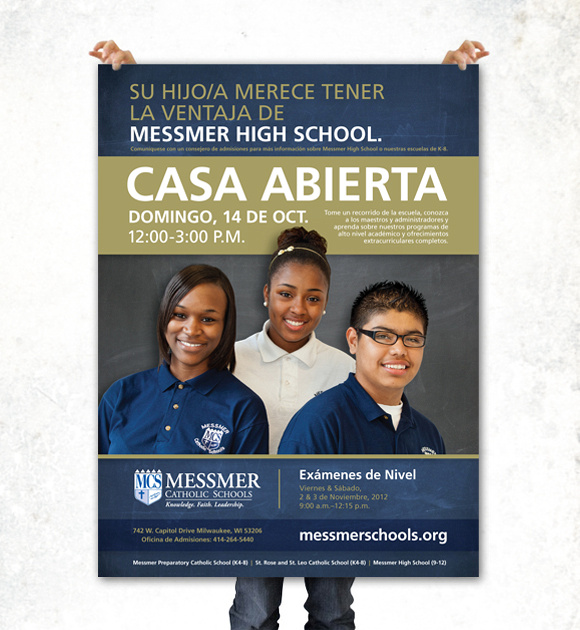Messmer Catholic Schools Open House 2012 Marketing Design